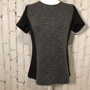 NWT Calvin Klein shirt Black with leopard texture